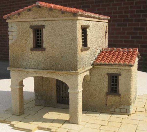 Modular Double Storey Pirate Building With Portico and Side Roof Section